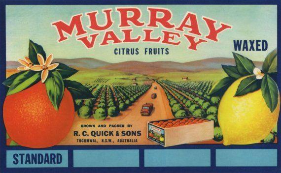 *Original* TROPIX Woodlake BAKER BROS Orchard Farm Orange Crate Label NOT A COPY
