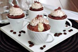 cupcake cremoso de café