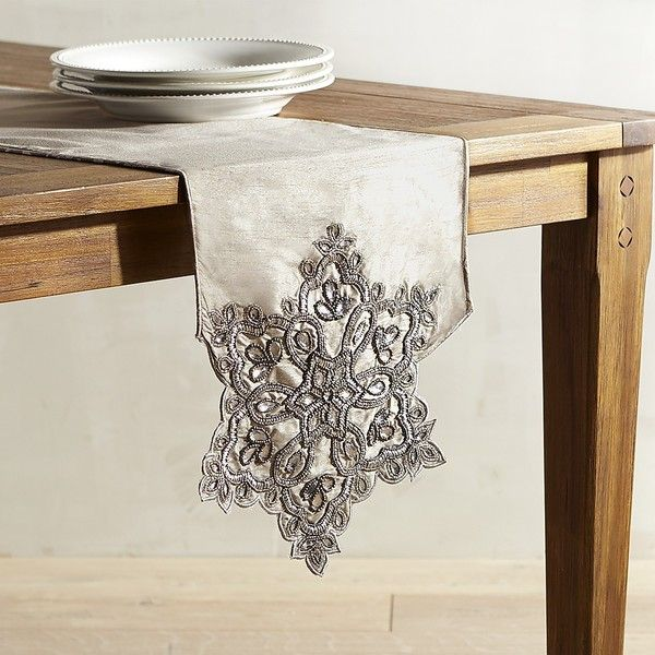 Pier 1 Imports Snowflake 108 Table Runner 45 Liked On