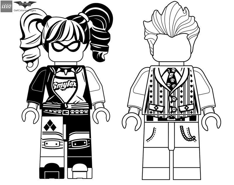 Lego Batman Harley Quinn Coloring Pages Portraits