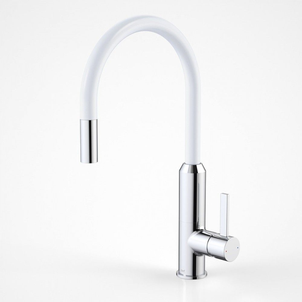Dorf Vixen Retractable Sink Mixer white | SHOP NOW: The Blue Space ...