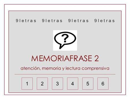 Resultado de imagen de MEMORIA 9 LETRAS