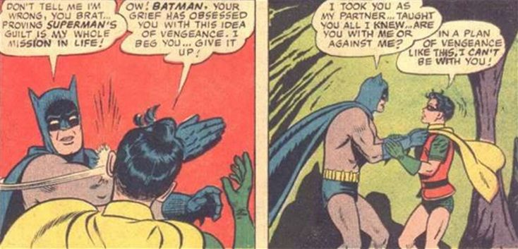 The Original Bat Slap That Started It All Batman Slapping Robin