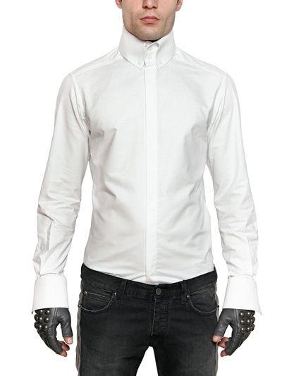34112b2b7 Karl lagerfeld paris - oxford high collar slim fit shirt in 2019 ...