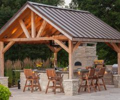 Small Pavilion Patio Traditional With Metal Roof Side Burner Small Outdoor Patios Rustic Outdoor Patio