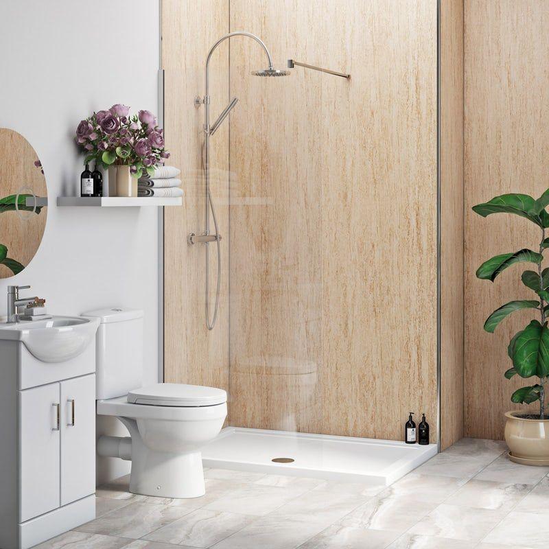 Multipanel Economy Aruban Sand matt shower wall single ...