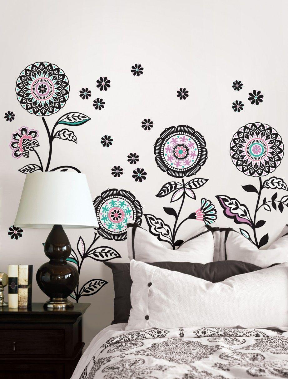 Wall art floral bedroom floral favor pinterest art floral