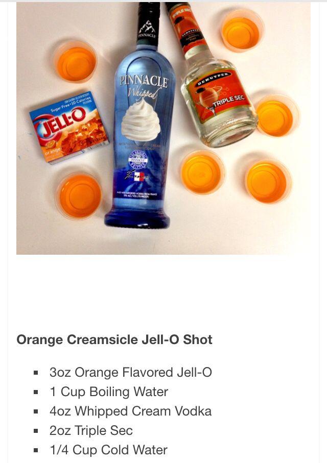 Orange creamsicle #halloweenjelloshots