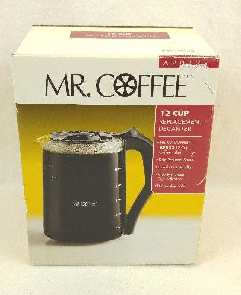 Mr Coffee 12 Cup Replacement Decanter Pot Model Apd 13 For Apx 33 Euc Mrcoffee