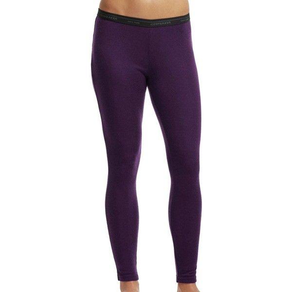 Icebreaker Everyday Leggings ($48) ❤ liked on Polyvore featuring pants, leggings, icebreaker leggings, legging pants, purple leggings and purple pants