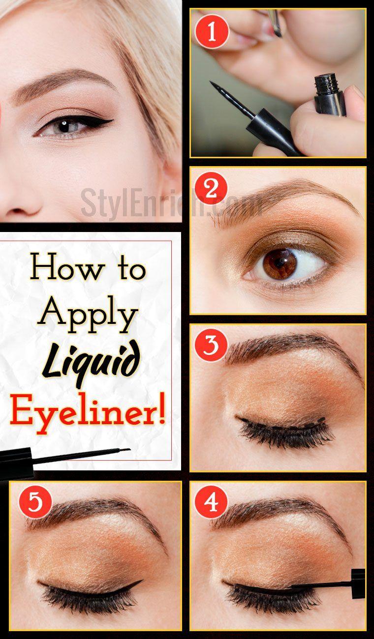 How to apply liquid eyeliner  Liquid eyeliner, Eyeliner, How to