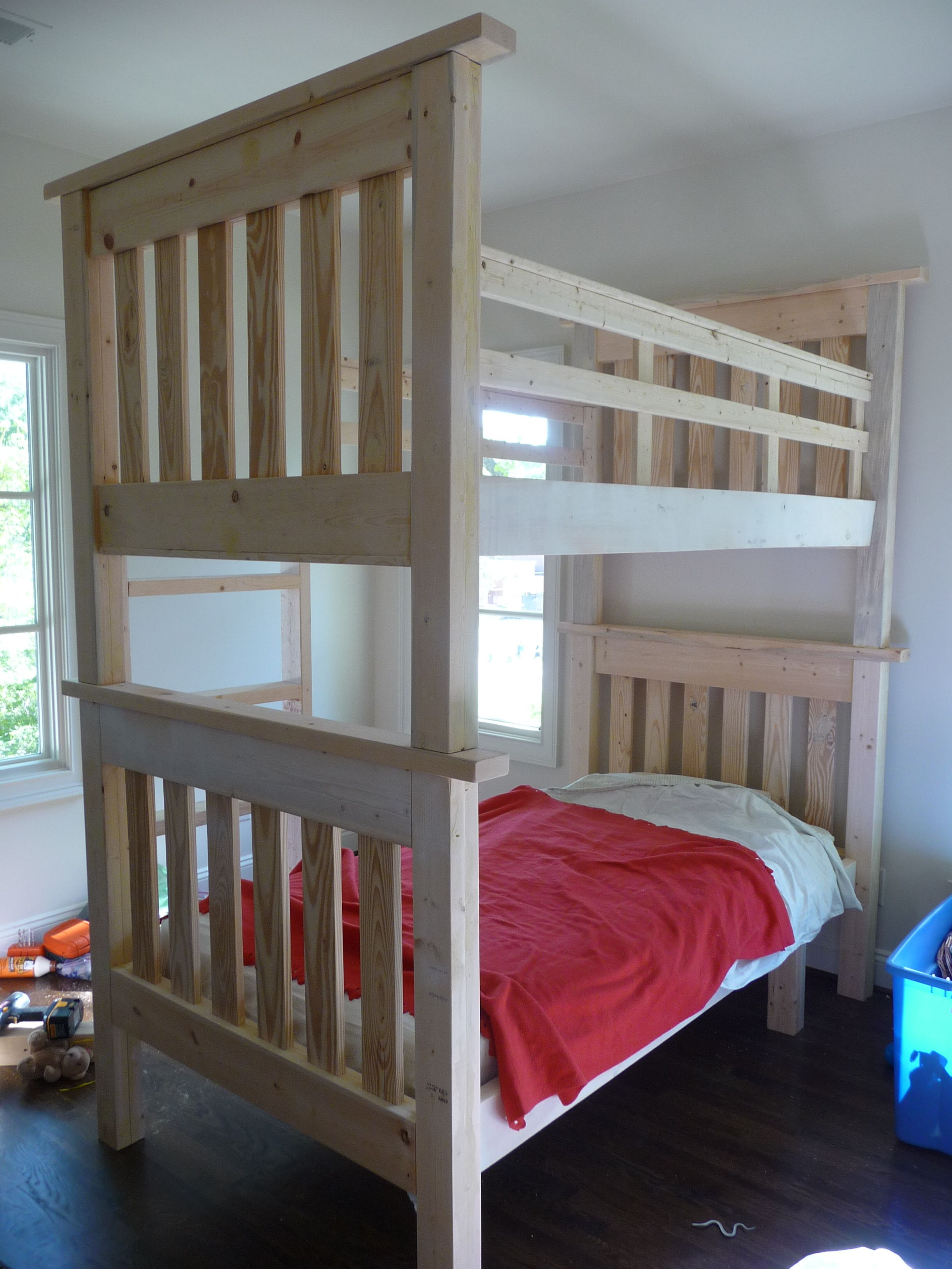 Loft bed ideas diy  Simple Bunk Beds  My First