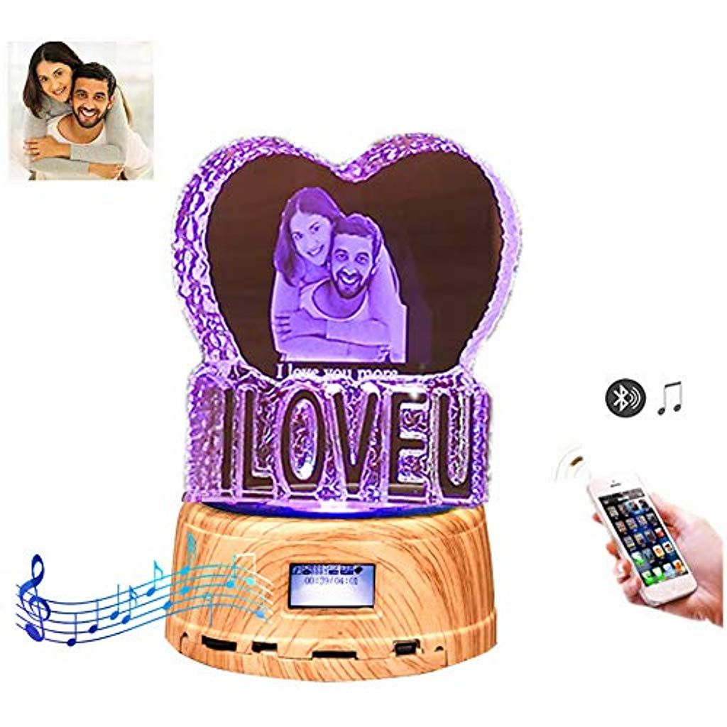 Papa Geschenke Custom Foto Nachtlicht Bluetooth Led Lampe Musik Player Vatertagsgeschenk Fur Papa Music Box Geschenke Beleuchtung Innen Mit Bildern Led Lampe Box Geschenk