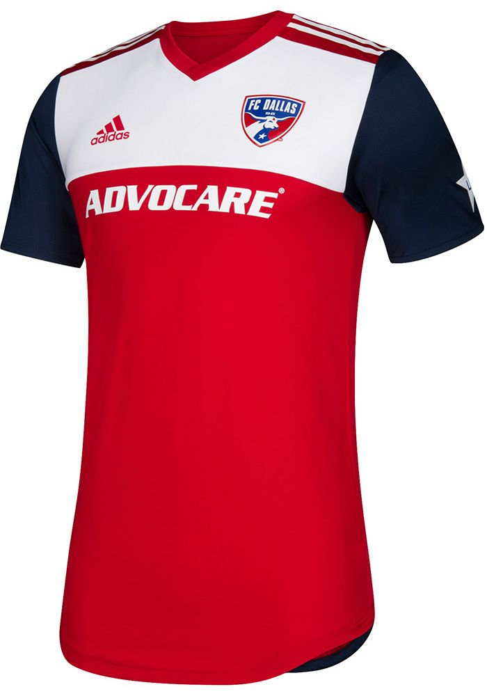 783a904efab FC Dallas Mens Adidas Authentic Soccer 2018 Primary Jersey - Red ...