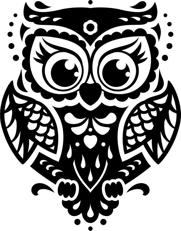 Download Owl svg | Owl silhouette, Rooster silhouette, Owl templates