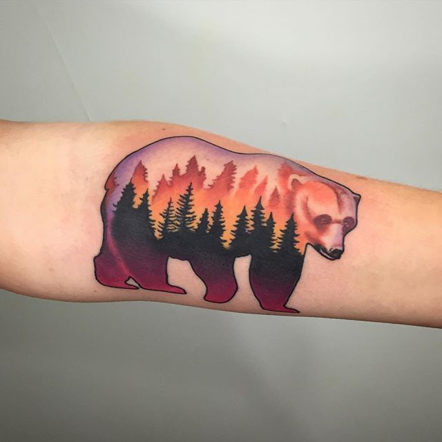 Awesome Bear Tattoo Artist Dan Pemble Of Sacred Tattoo In Marquette Michigan Bear Tattoos Silhouette Tattoos Tattoos
