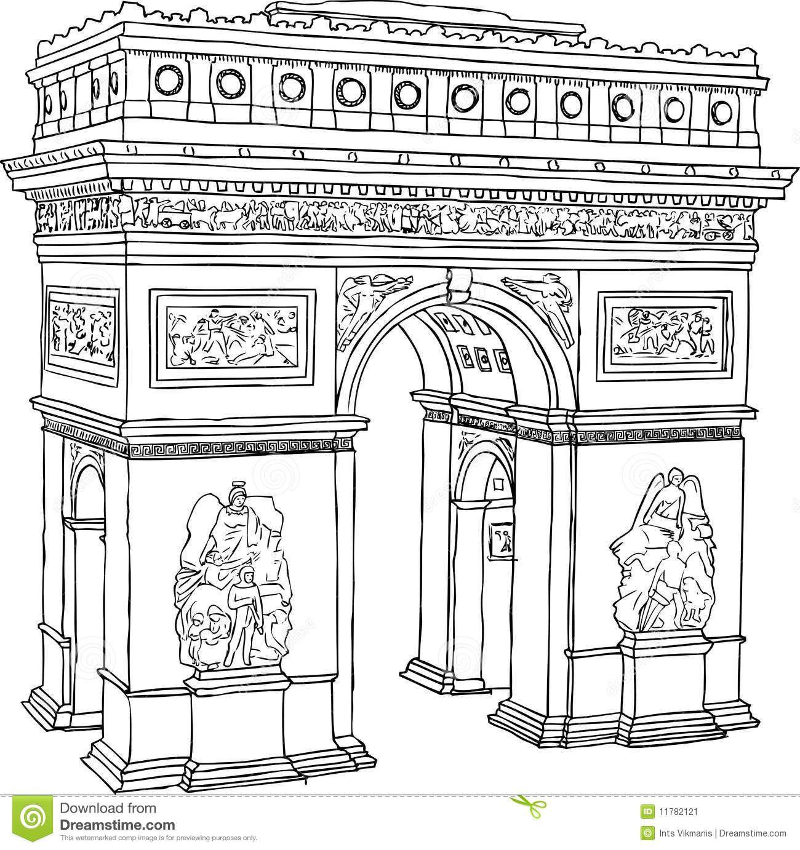 Arc De Triomphe Drawing
