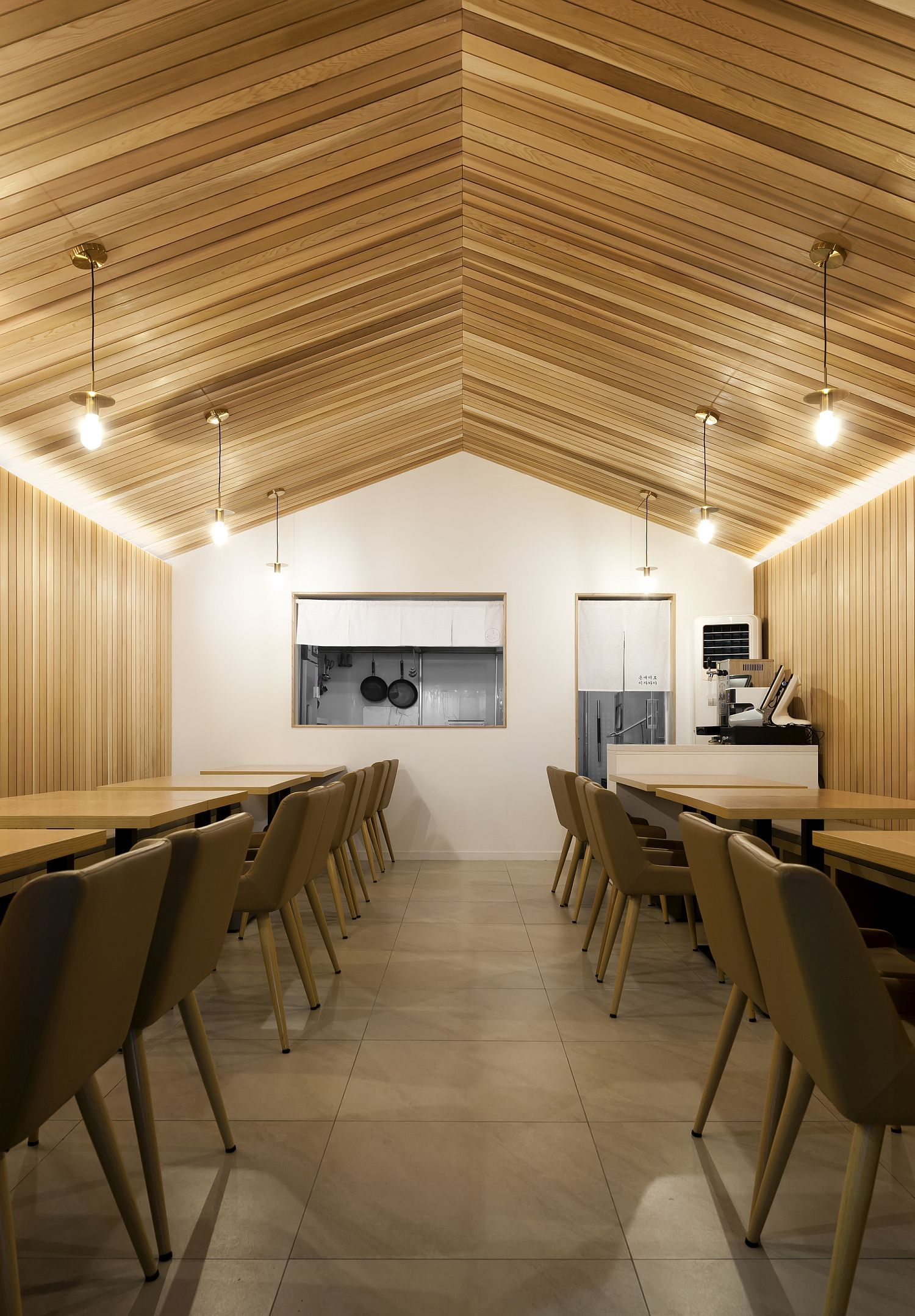 Urban Cabin Small Space Conscious Restaurant With Cozy Modern