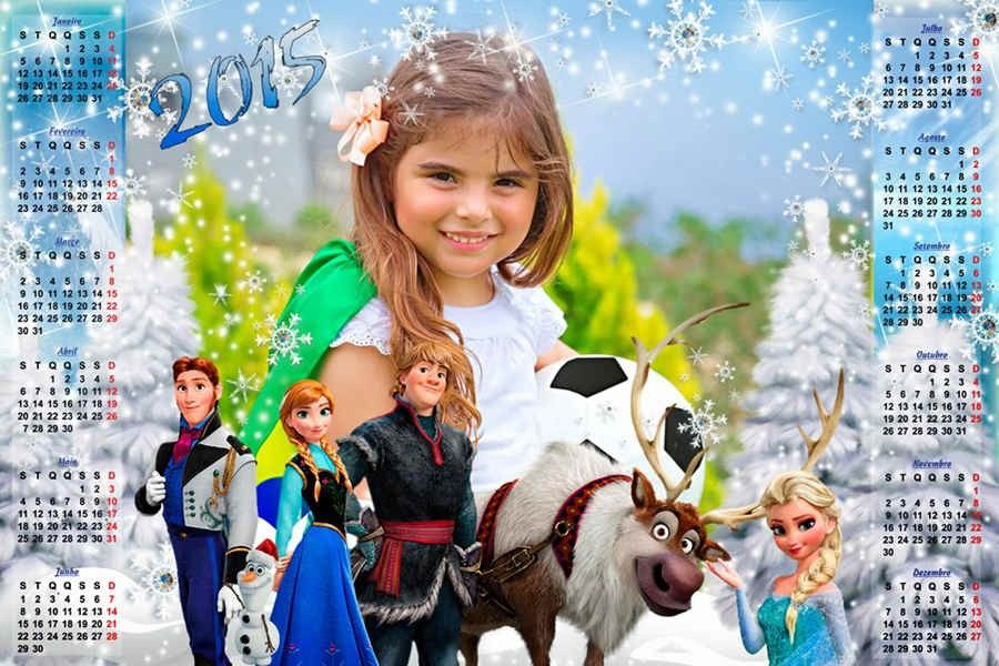 New Year Monthly Printable Frozen Advent Calendar Templates