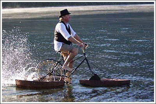 Cycling On Water 13 Amphibious Vehicles Bike Bicycle Und Boat