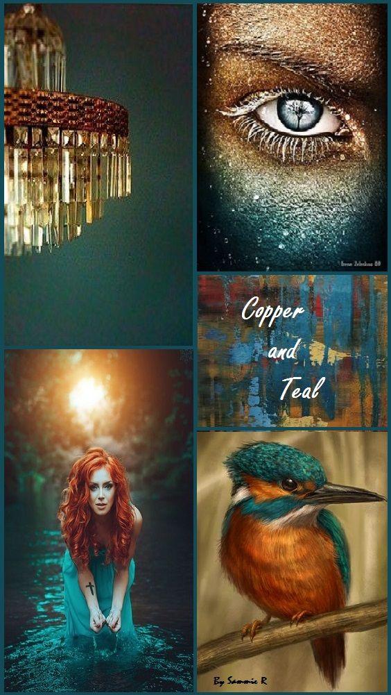 Copper And Teal By Sammie R Цветовые схемы Вдохновение