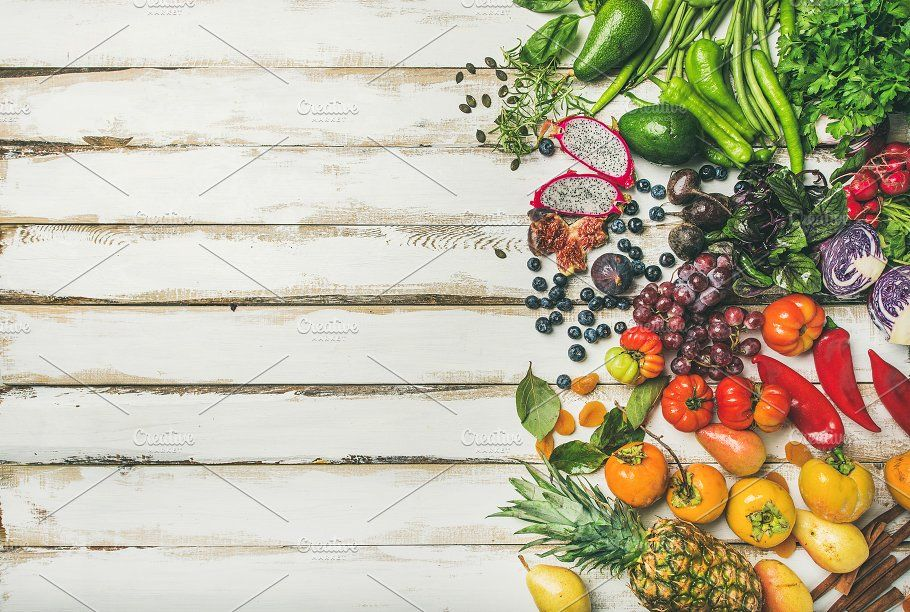 Vegan food cooking background | Raw vegan recipes