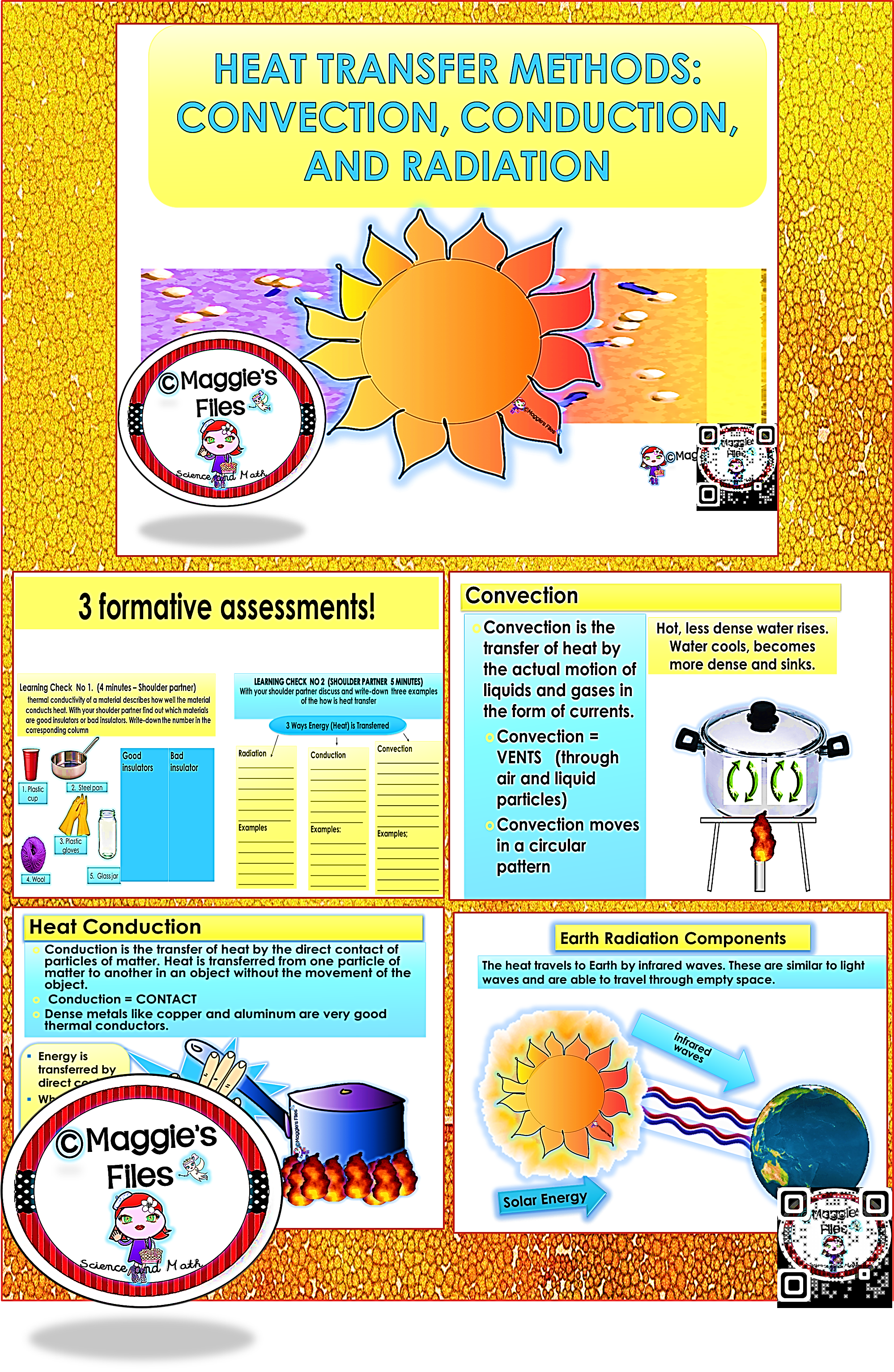 The Heat Transfer Convection Conduction And Radiation Contains 26 Slides Of A Power Point Prese Science Teaching Resources Heat Transfer Middle School Science