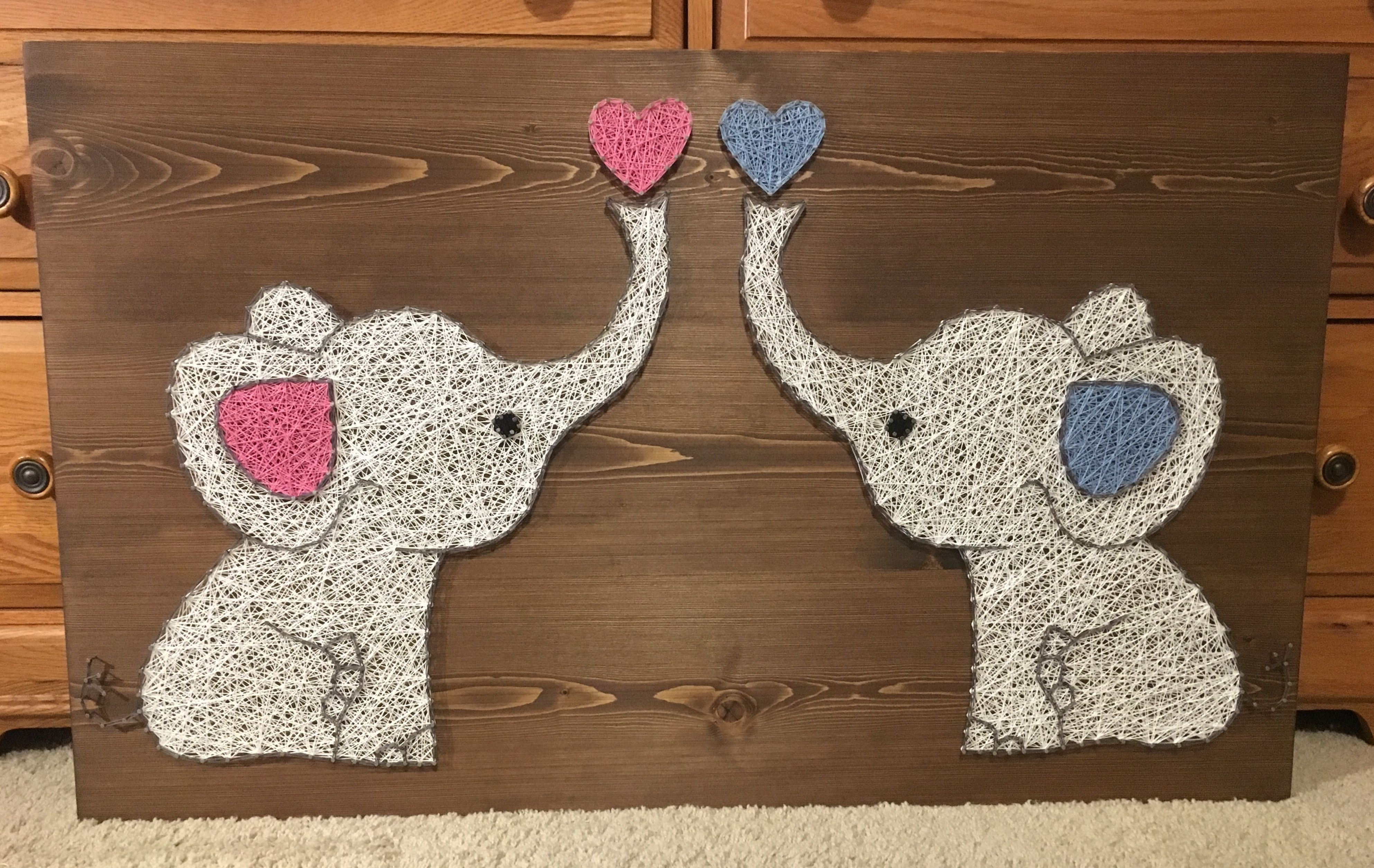 Personalized Unique Gift//Valentines Cute Elephants /& Baby Heart! Wooden Card