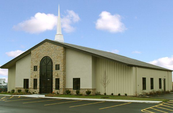 Exterior colors church project pinterest pre for Church building designs