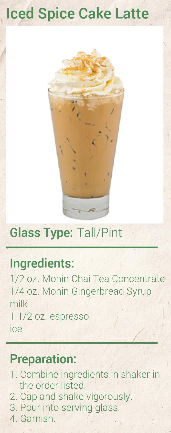 Iced Spice Cake Latte Coffee Recipes Ice Coffee Recipe Iced Coffee Drinks