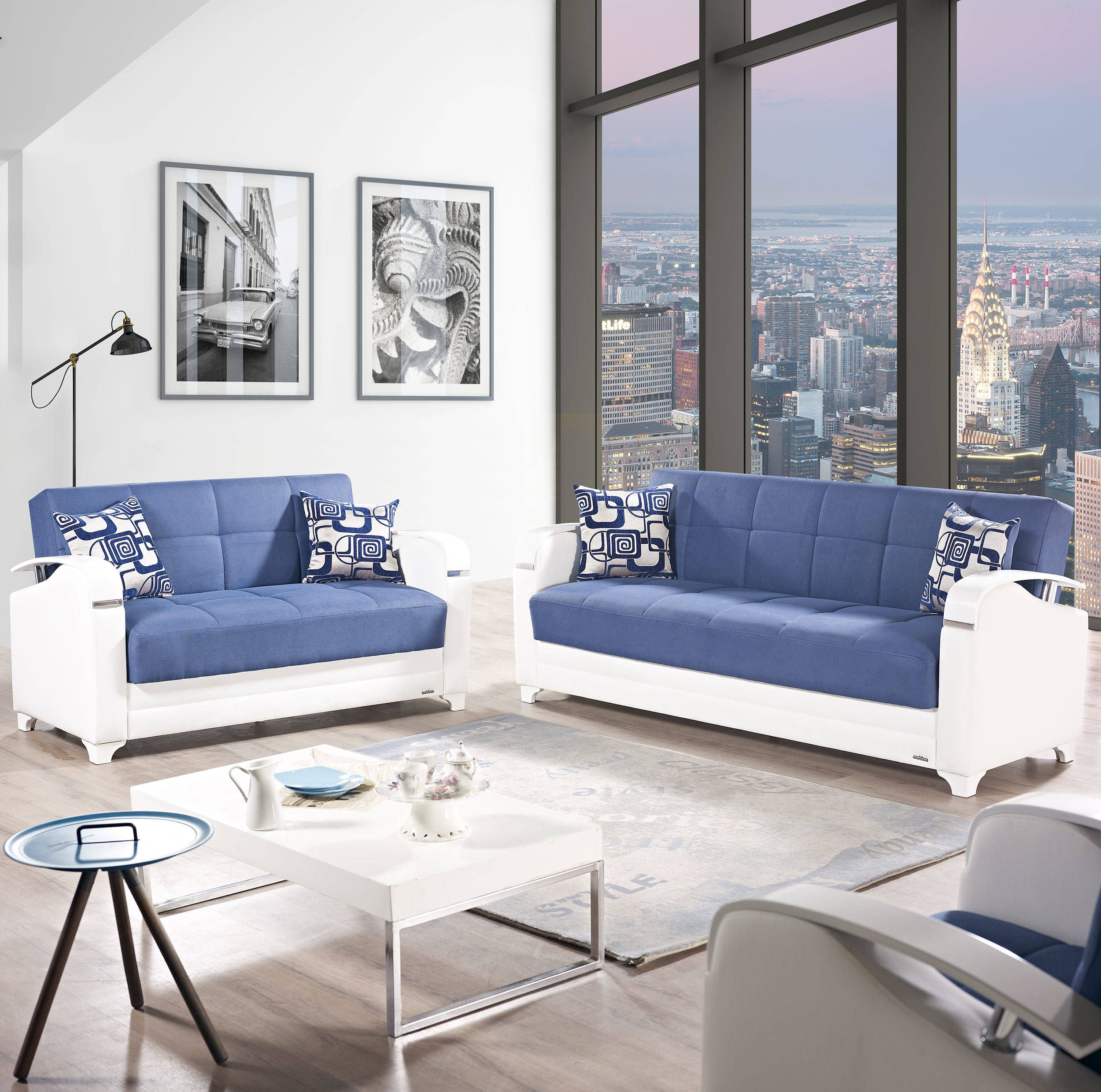 Strange Etro Vintage Navy Blue Fabric Pu Mdf Plywood 3Pc Living Room Download Free Architecture Designs Scobabritishbridgeorg