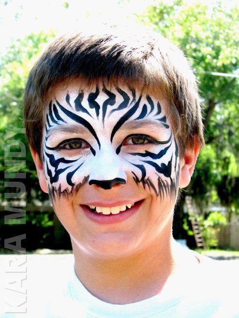 Zebra face paint idea | Face painting | Pinterest | Zebra ...