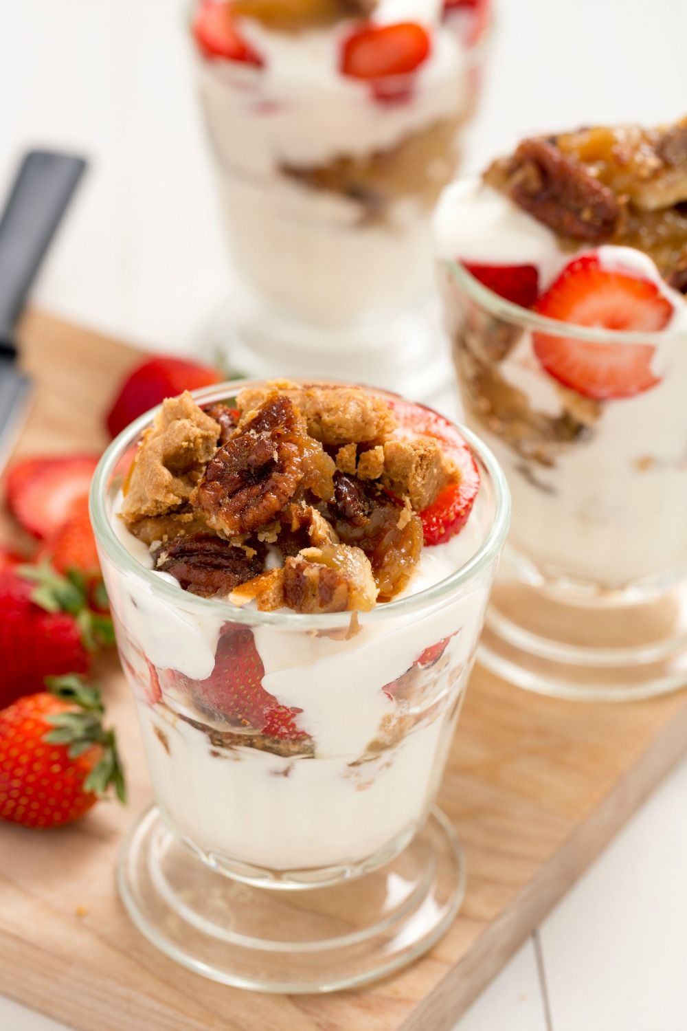 In a dream world, where it's totally acceptable to start the day with a balanced dessert, these pie parfaits are it. Layers of pecan or apple pie, plain yogurt (trust us, the pie provides all the sweetness you need), and sliced strawberries are a delicious way to kick off Black Friday.   - Delish.com