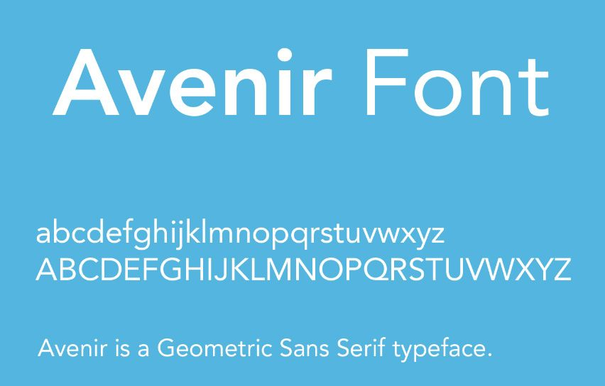 Avenir Font Family Free Download Fonts Pinterest Font Family