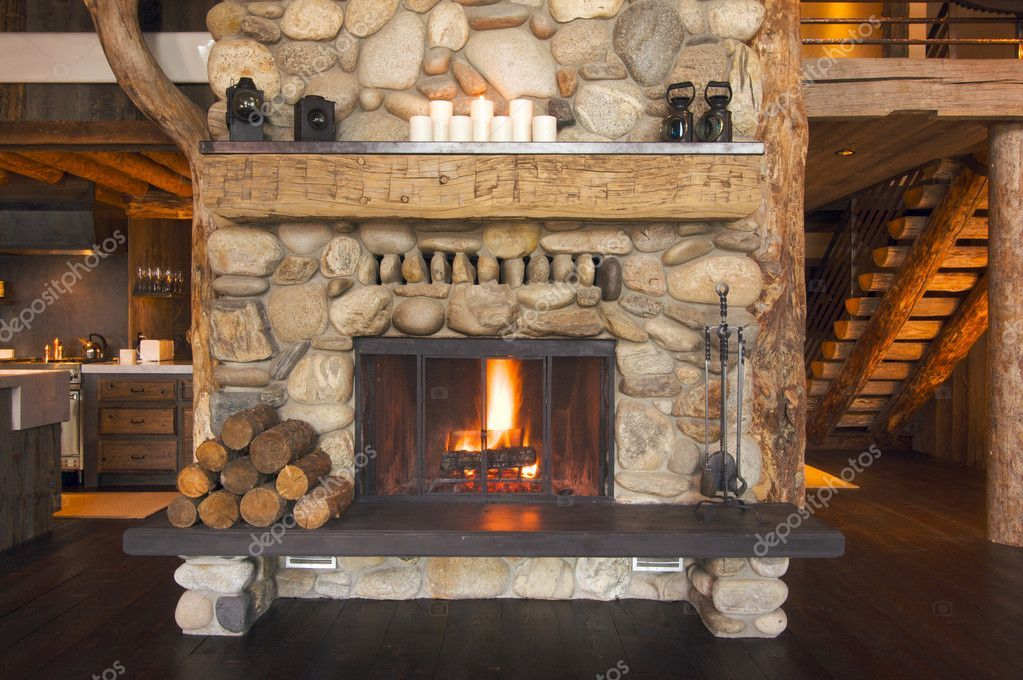 Rustic Fireplace In Log Cabin Stock Photo Aff Log Fireplace Rustic Photo Ad Wood Burning Fireplace Inserts Rustic Fireplaces House Design Photos