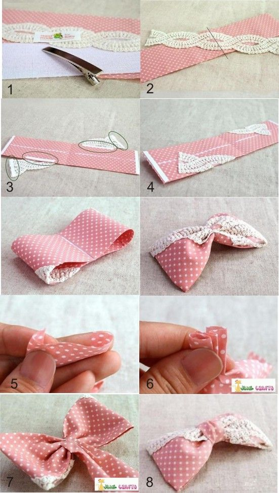 30 Cute And Easy To Make Hair Bows Diy Crafts Home Pinterest
