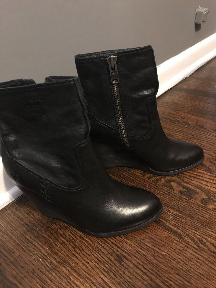 4f266482da7 Frye Carson Wedge Bootie. Black. Size 8. Worn once.