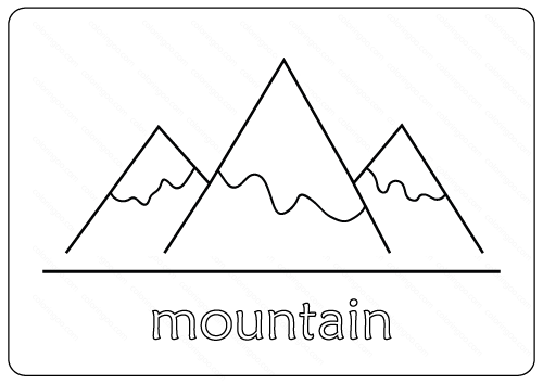 Printable Mountain Coloring Pages Pdf Coloring Pages Bible Coloring Pages Templates Printable Free