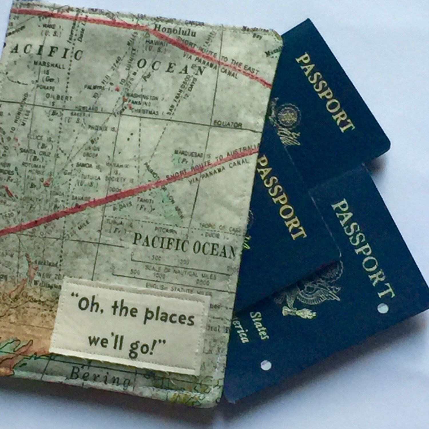 A personal favorite from my Etsy shop https://www.etsy.com/listing/464455543/family-passport-cover-oh-the-places-well
