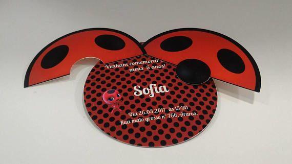 Idee Carton Invitation Anniversaire Miraculous Ladybug Enfants