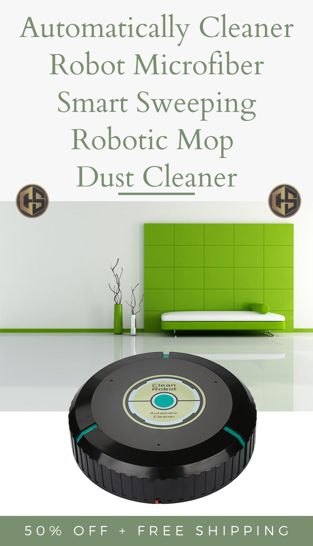 Automatically Cleaner Robot Microfiber Smart Sweeping