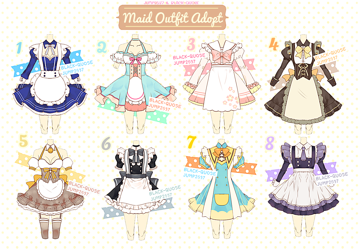 [CLOSED] Maid Outfit Adoptable #11 by Black-Quose.deviantart.com on @DeviantArt | การออกแบบตัวละคร ...