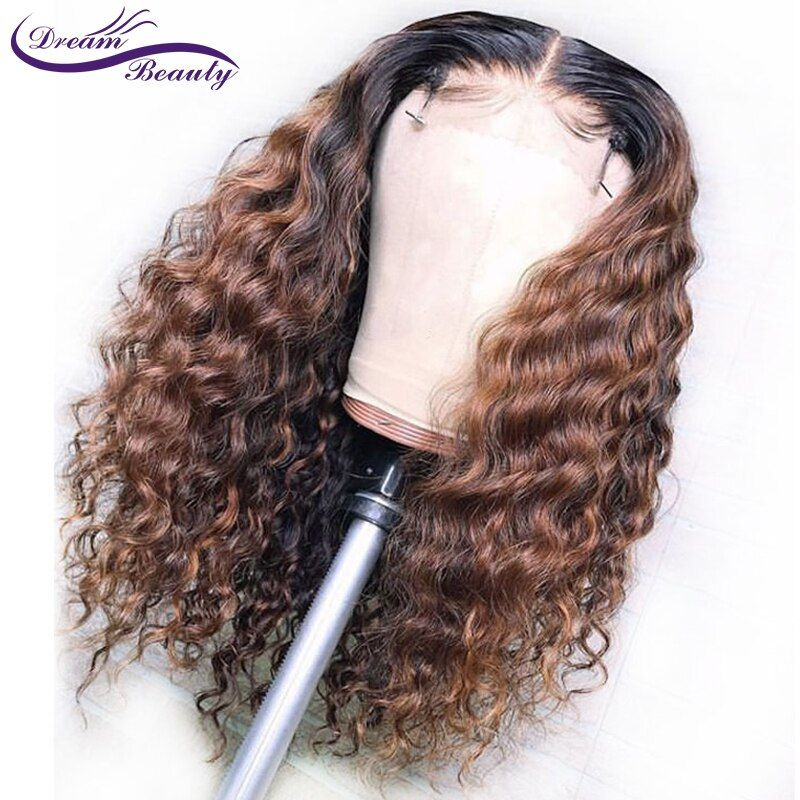 1B/30 Ombre Color Lace Front Human Hair Wigs Baby Hair