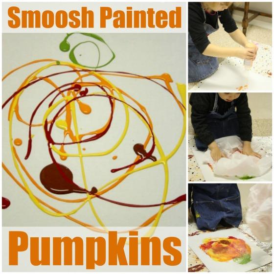 Smoosh Painted Pumpkin Art #paintedpumpkins