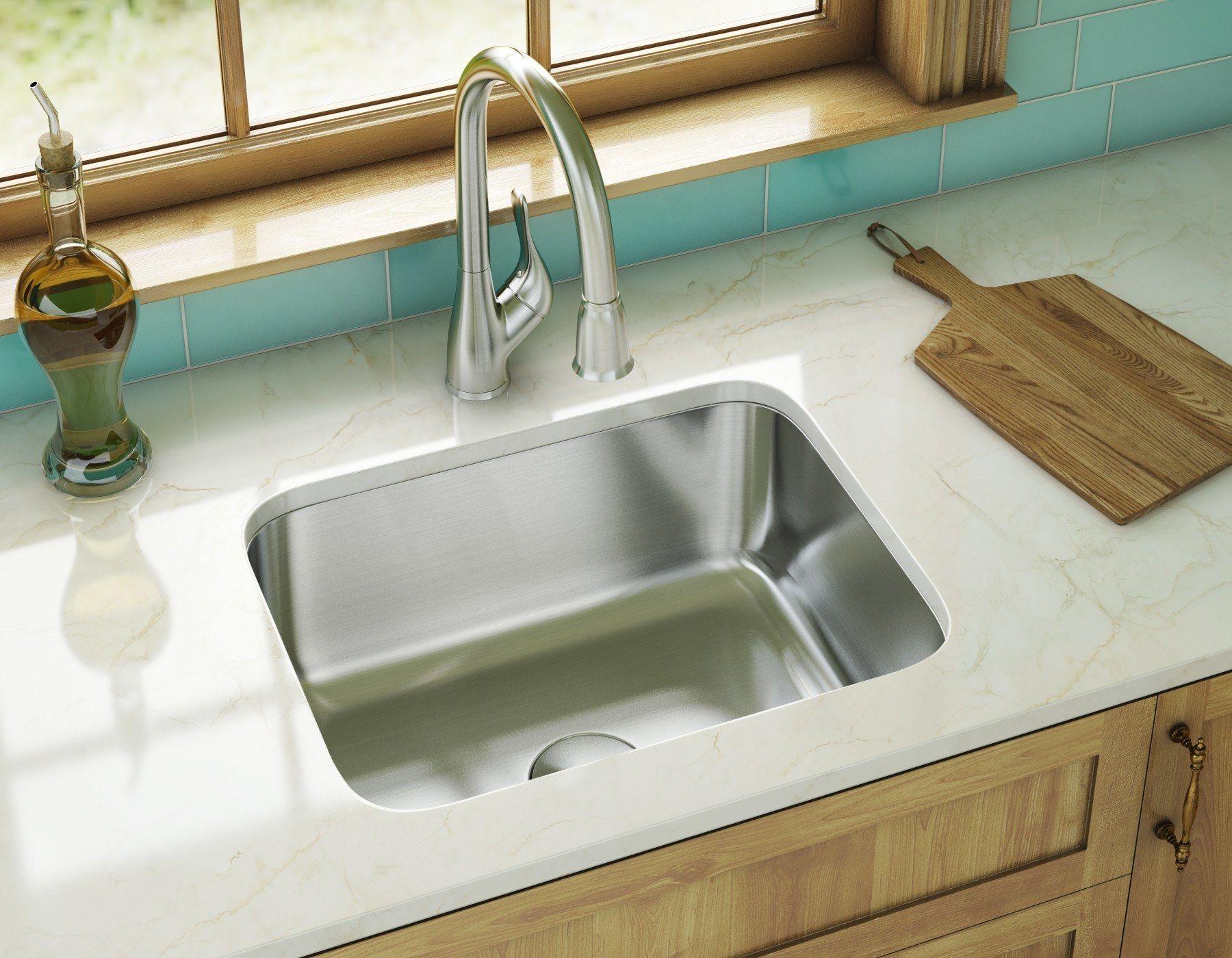 stainless steel sink series   model  ksn 2318 16 undermount single bowl 16 gauge stainless steel kitchen sink under counter installation no faucet u2026 stainless steel sink series   model  ksn 2318 16 undermount single      rh   it pinterest com