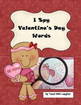 I Spy Valentine's Day Words - Teach With Laughter - TeachersPayTeachers.com