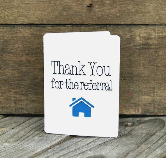 thank you for the referral card set referral realtor cards