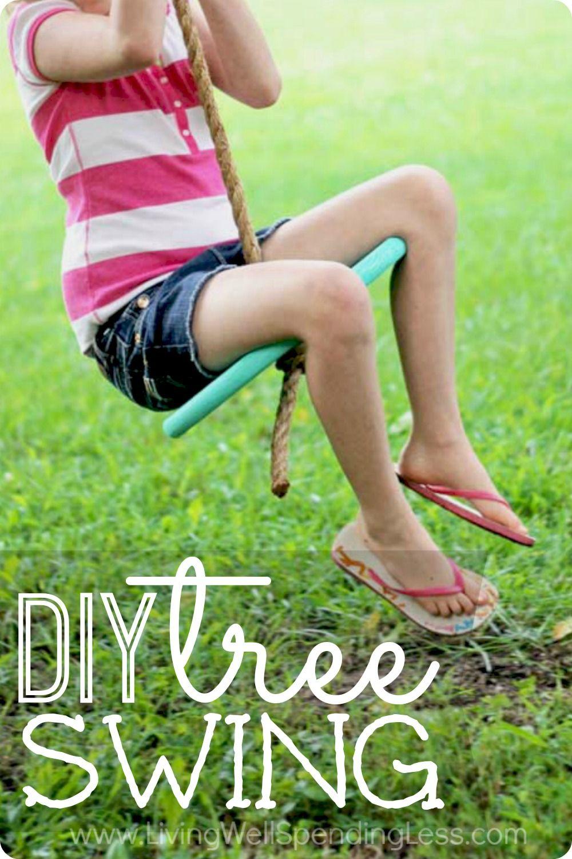 DIY Tree Swing for Kids   Living Well Spending Les