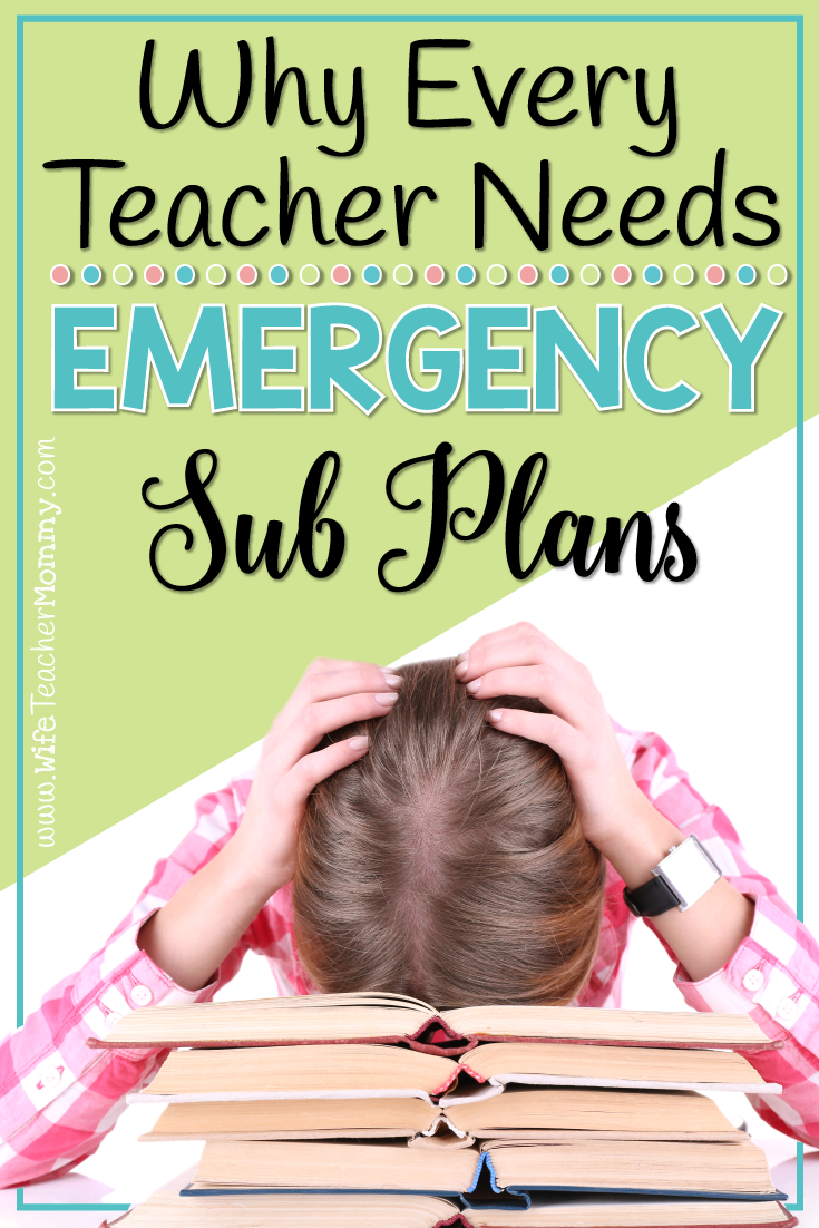 Do you REALLY need emergency sub plans? The answer is YES! Get a FREEBIE to help you get started and learn more about why it's so important to have them.