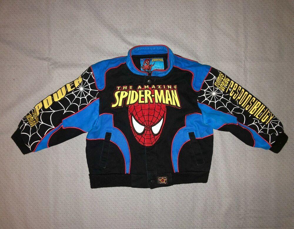 385de77e0 Marvel The Amazing SpiderMan Boys 4T Varsity Bomber Jacket Patches ...